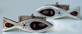 pisces cuff links